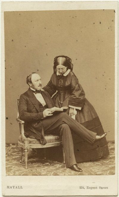 queen victoria and albert carte-de-visite credit: national portrait gallery